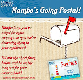 Mambo Sprouts Mailed Coupon Booklet (1st 50,000 Only!)