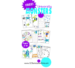 Monsters University Printable Pack
