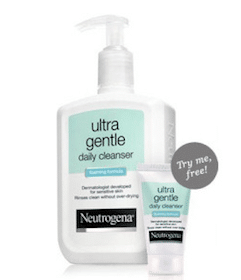 Sample of Neutrogena Ultra Gentle Daily Cleanser