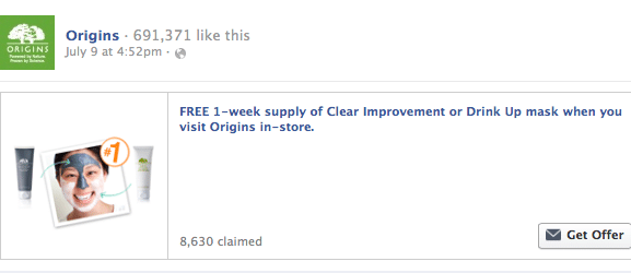1-Week Supply of Clear Improvement or Drink Up mask at Origins