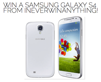 Win a Samsung Galaxy S4
