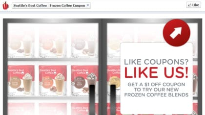Seattle's Best Frozen Coffee Coupon [FACEBOOK]