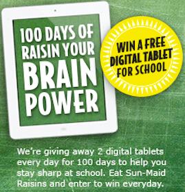 Win a Digital Tablet from Sunmaid (200 Winners!)