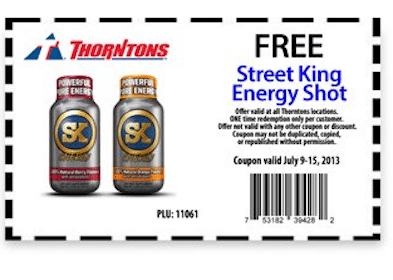 Street King Energy Shot at Thorntons Stores