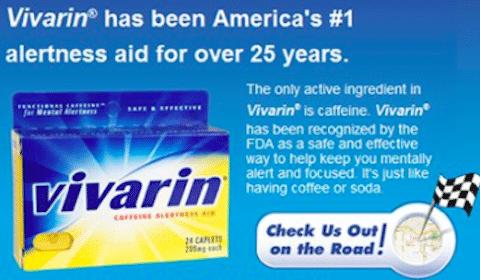 Vivarin Caffeine Alertness Aid Sample