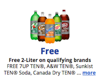 Kroger & Affiliates eCoupon: 2 Liter Bottle of TEN Flavor Soda