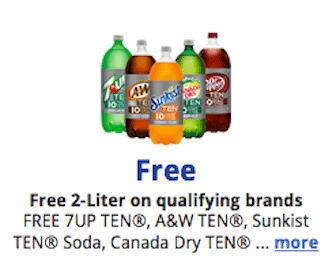 Kroger & Affiliates eCoupon: 2 Liter Bottle of TEN Flavor Soda