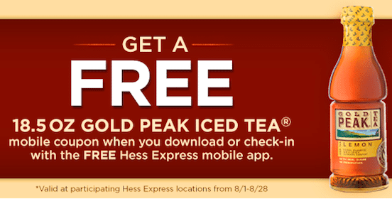 Gold Peak Iced Tea at Hess Express