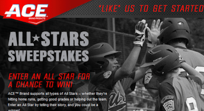 Ace All-Stars Sweeps: Win $5,000 Cash or a $500 Walmart Gift Card