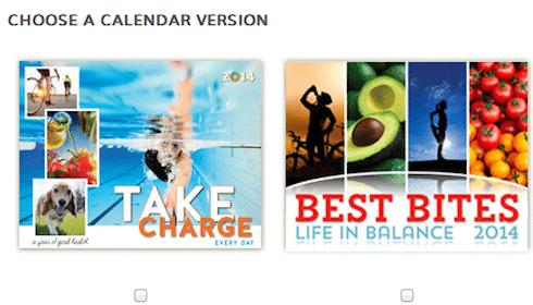 2014 Personal Best Wellness Calendar Sample