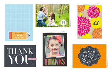 12 Personalized Thank You Cards from Shutterfly (Just Pay Shipping!)