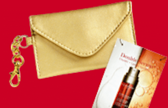 Gold Business Card Case & Clarins Double Serum Sample (1st 10,000!)