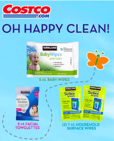 Costco Member Samples: Baby Wipes, Facial Towelettes and Household Surface Wipes