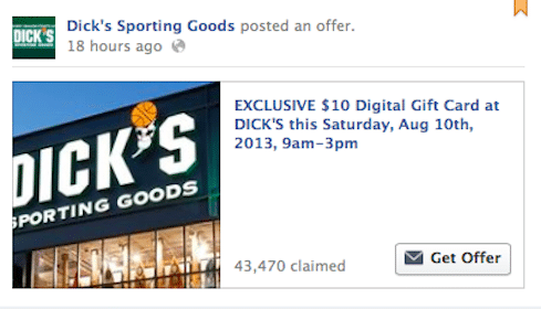 *HOT* FREE $10 Dick's Sporting Goods Digital Gift Card (Valid 8/10 from 9AM-3PM)