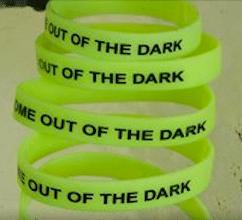Glow-in-the-Dark Depression Awareness Wristband