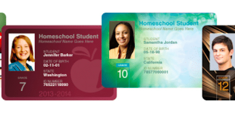 Up to 5 Professionally Printed Photo ID Cards for Homeschoolers