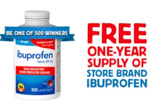 Perrigo Happy Healthy Summer Sweeps: 500 Win a 500-Count Bottle of Ibuprofen