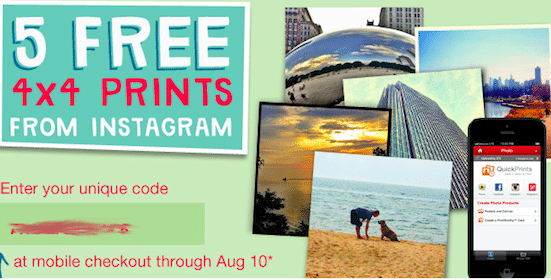 4×4 Mobile Prints from Instagram (1st 10,000 Only!)