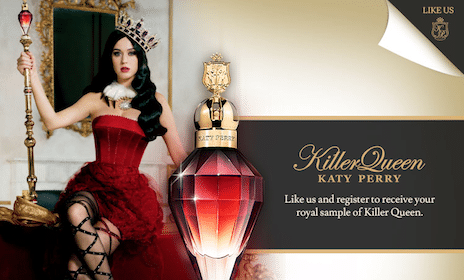 Sample of Katy Perry's New Killer Queen Fragrance