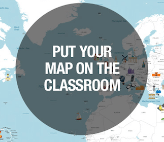 World Map for Teachers