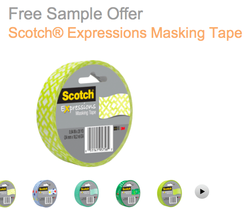 Scotch Expressions Masking Tape Sample – 1st 10,000!