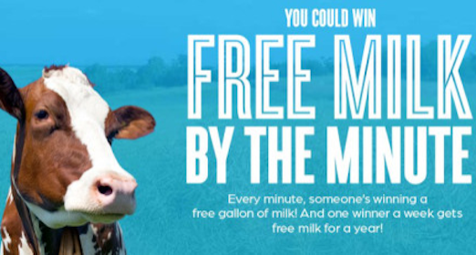 Got Milk Sweepstakes: 82,080 Win Coupon for a FREE Gallon of White Milk