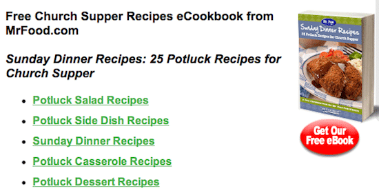 Sunday Dinner Recipe eBook