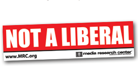 'Not A Liberal' Bumper Sticker