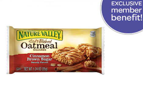 Nature Valley Soft Baked Oatmeal Squares Bar Sample (1st 10,000 Box Tops for Education Members!)