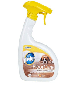 Bottle of Pledge FloorCare Wood