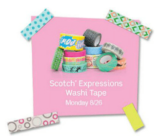 Scotch Expressions Washi Tape Aug. 26