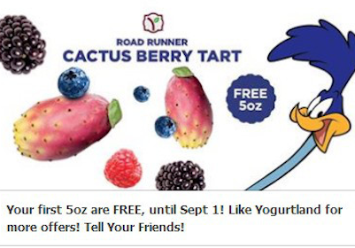 Road Runner Cactus Berry Tart at Yogurtland (Valid 8/19-9/1 Only)