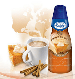 100 Win Case of International Delight Pumpkin Pie Spice Creamer (+ Print $1/1 Singles, Pints or Quarts Coupon!)