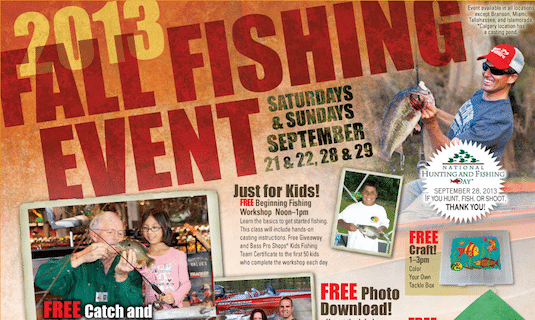 2013 Fall Fishing Event at Bass Pro Shops