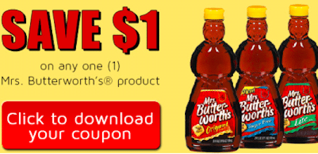 Save $1/1 Mrs. Butterworth's Syrup Coupon