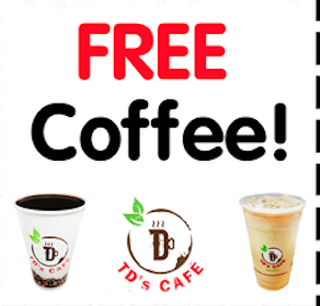 Iced or Hot Coffee at Tedeschi Food Shops (CT/MA Only!)