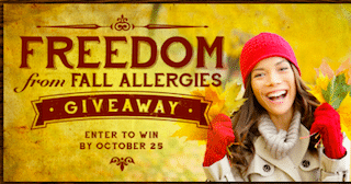 Freedom from Fall Allergies Giveaway: 1,500 Win Aller-Ease 24 Hour Allergy Relief ($50 Value!)