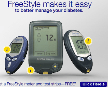 Freestyle Blood Glucose Meter and Test Strips