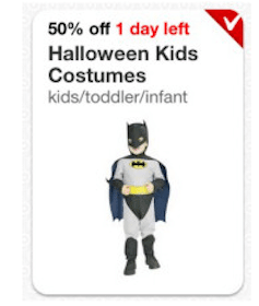 Target Cartwheel Coupon: Save 50% Off Kid's Halloween Costumes & Accessories
