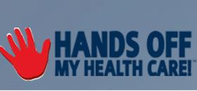 Hands Off My Healthcare sticker