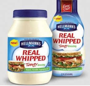 Save $1.50 off Hellmann's Real Whipped Tangy Dressing