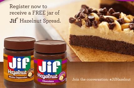 Jif Hazelnut Spread Product (1st 10,000!)