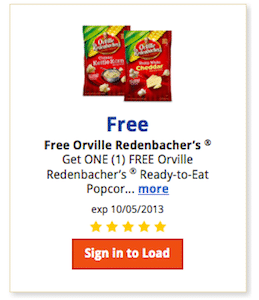 Kroger & Affiliates eCoupon: Orville Redenbacher Ready to Eat Popcorn (Must Load eCoupon Today!)