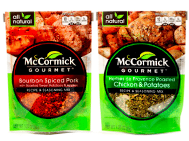 McCormick Gourmet Recipe & Seasoning Mix at Walmart