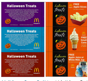 McDonald's Halloween Treats Coupon Booklet Only $1 (Includes 12 FREE Product Coupons!)