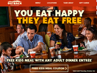 Outback Steakhouse Coupon: Kids Eat FREE
