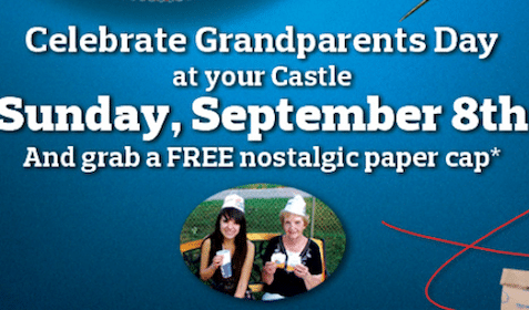 Nostalgic Paper Cap at White Castle on Sunday