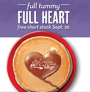FREE Short Stack of Pancakes at Perkins on September 26th.