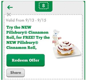 7-Eleven Mobile Coupon: FREE Pillsbury Cinnamon Roll