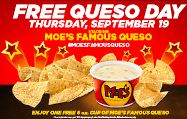Cup of Queso at Moe's on September 19